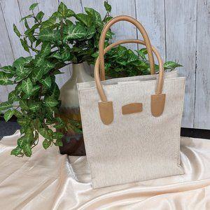 Talbots Beige Bucket bag/ Genuine Leather Handles